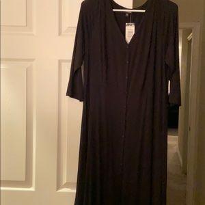 Torrid 3/4 sleeve black dress
